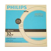 ราคาฟิลิปส์ หลอดฟลูออเรสเซนต์ชนิดกลม 32 วัตต์ แสงคูลเดย์ไลท์ 6200เค 1 ชุด (Philips Lifemax 32W 6200K Cool Daylight Circular Fluorescent Tubelight 1 Set)