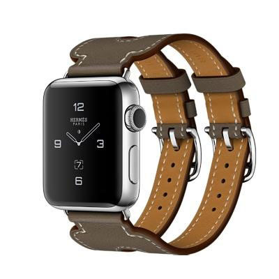 ราคาApple Watch Series 2 Hermes Leather Double Buckle Cuff 38mm.