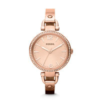 ราคานาฬิกา Fossil Georgia Glitz Three Hand Stainless Steel Watch รุ่น ES3226