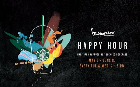 Starbucks ลดราคาเครื่องดื่มปั่น ครึ่งราคา!