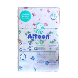ราคา Attoon ผ้าอ้อม ผ้าสาลู 27 นิ้ว แพ็ค 12 ผืน (AT869TBAJPMSANTH-939932)