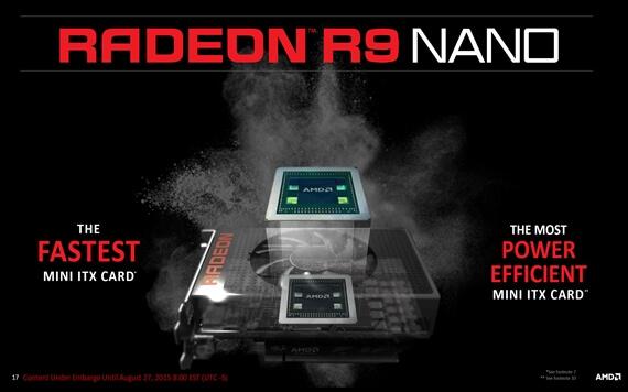 AMD เตรียมวางขาย Radeon R9 Nano การ์ดจอตัวเล็กแต่สเปคแร๊งแรง