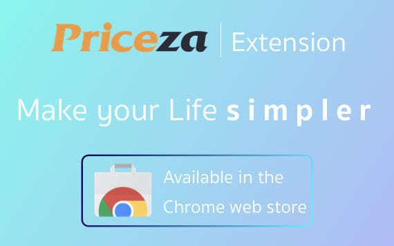 Priceza chrome extension