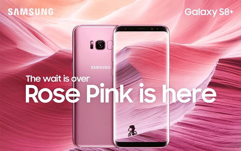 ซัมซุงเอาใจสายหวานซ่อนเปรี้ยว เตรียมจำหน่าย Samsung Galaxy S8+ สีใหม่Rose Pink